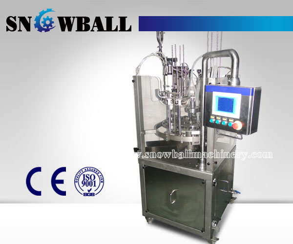Rotary ice cream filling machine, snowballmachinery.com