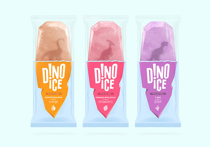 Dinosaurs Are Frozen In Popsicles - Design Ideas Of Ice Cream